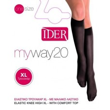 SOCK IDER KNEE-HIGHS XL MY WAY LYCRA 20D